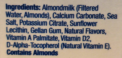 Almond Breeze, Almondmilk, Original - Ingredients