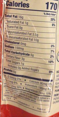 Almonds - Información nutricional - en