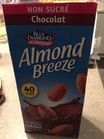 Almond Breeze Unsweetened Non-dairy Beverage Chocolate - Produit - fr