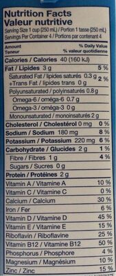 Almond Breeze Unsweetened Non-dairy Beverage Chocolate - Informations nutritionnelles - fr