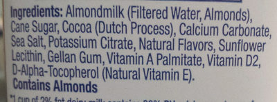 Almond milk with Chocolate - Ingredients