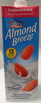 Blue Diamond Almond Breeze Unsweetened Ambient 1L - Produit