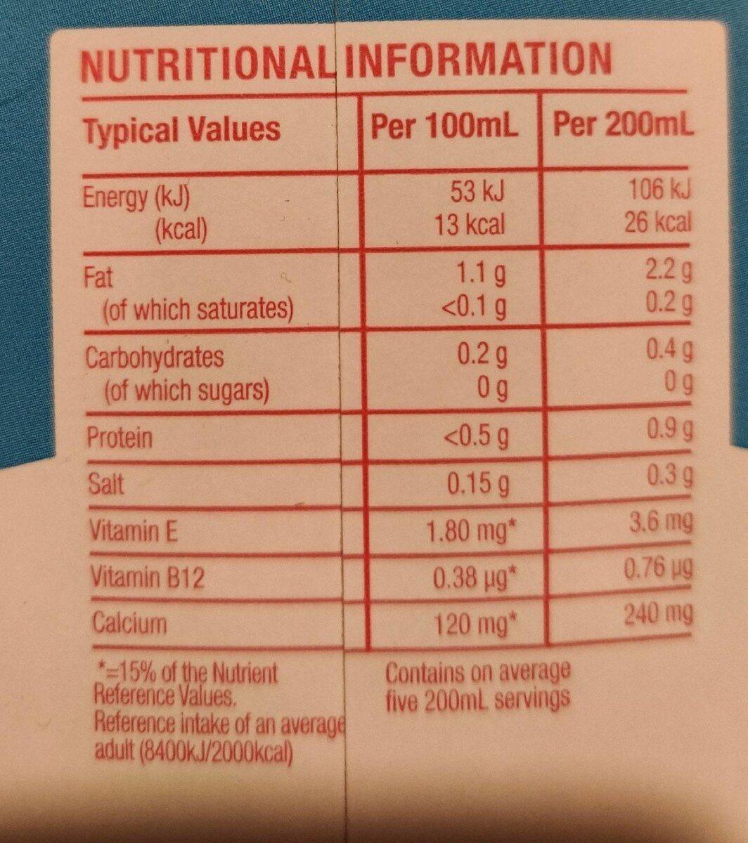 Almond breeze - Nutrition facts - en