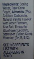 Blue Diamond Almond Breeze Long Life Vanilla Milk Alternative 1L - Ingrédients