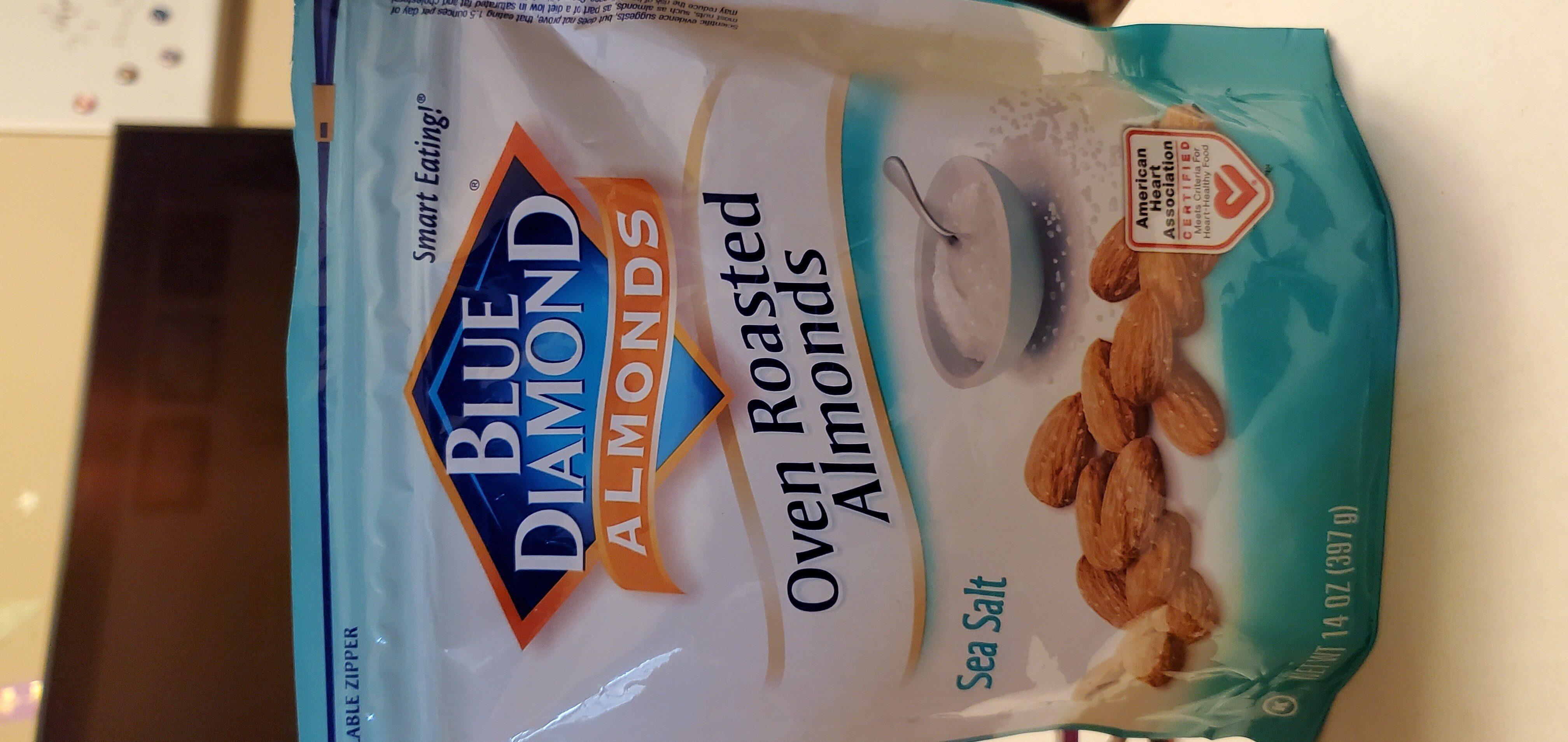 Oven roasted almonds, sea salt - Produit - en