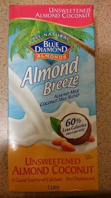 Blue Diamond Almond Breeze Unsweetened Almond Coconut - Product - en