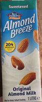 Blue diamond almond breeze original almond milk sweetended - Product