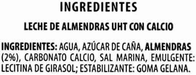 Bebida de almendras original - Ingrediënten - es