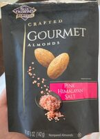 Crafted gourmet almonds pink himalayan salt - Product
