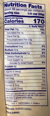 Almond Flour - Nutrition facts - en
