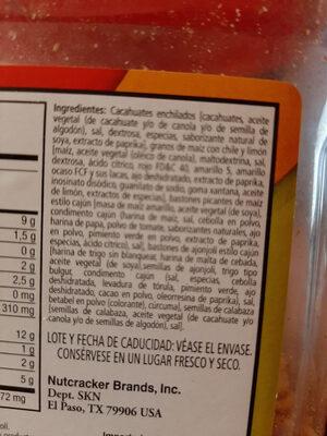 Mezcla de Botanas, South of the Border - Ingrediënten - en