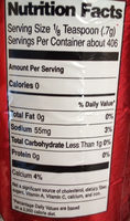 Baking Powder - Nutrition facts