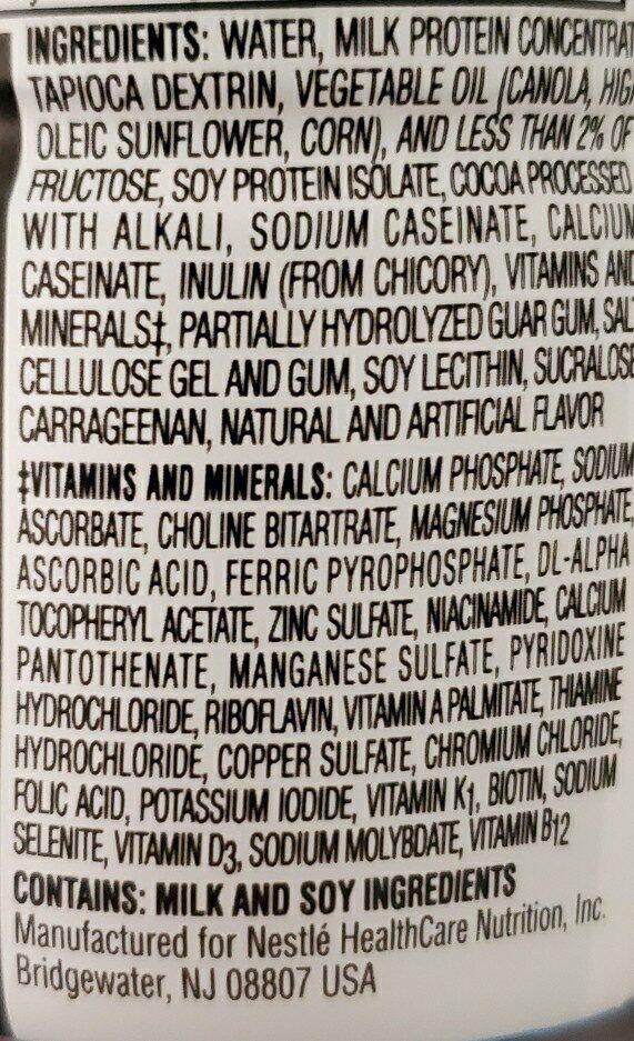 boost glucose control milk chocolate shake - Ingredients - en
