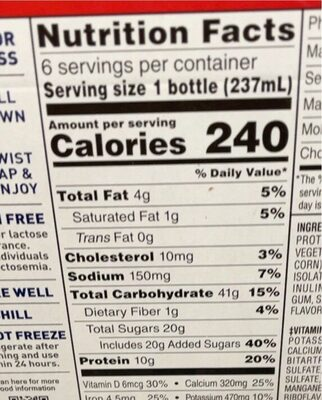 Boost - Valori nutrizionali - en
