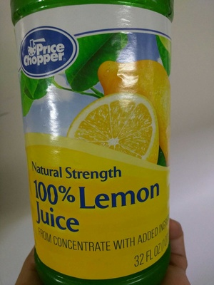 100% Lemon juice from concentrate with added ingredients - Product