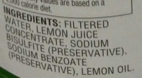 100% Lemon juice from concentrate with added ingredients - Ingredients