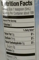 100% Lemon juice from concentrate with added ingredients - Nutrition facts