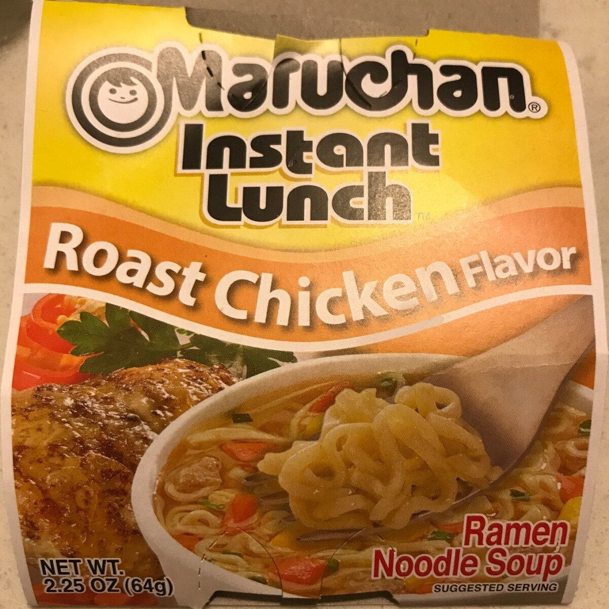 Instant Lunch, Ramen Noodles With Vegetables, Roast Chicken - Product