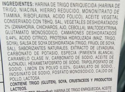 Camarón y limón - Ingrediënten - es