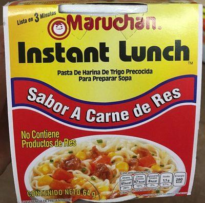 Instant Lunch sabor Carne de Res - Product - es
