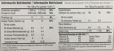 Instant Lunch sabor Carne de Res - Voedingswaarden - es