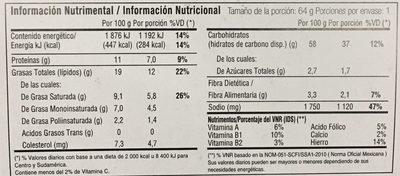 Instant Lunch - Información nutricional - es