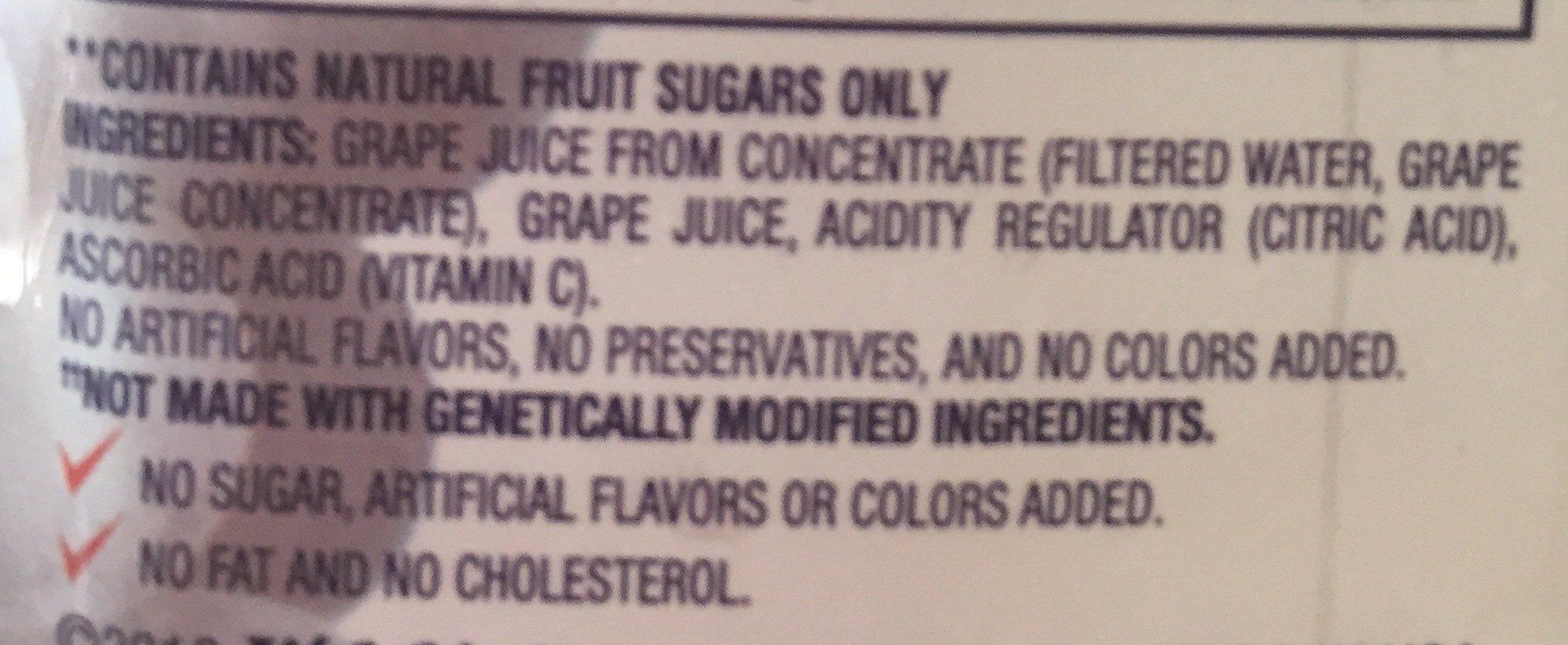 Grape juice - Ingrédients - fr