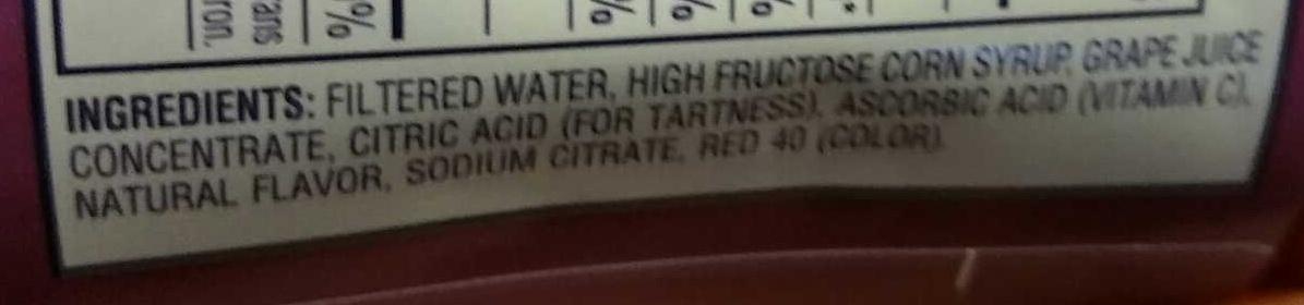 Grape - Ingredients