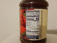 Strawberry spread - Informations nutritionnelles - en