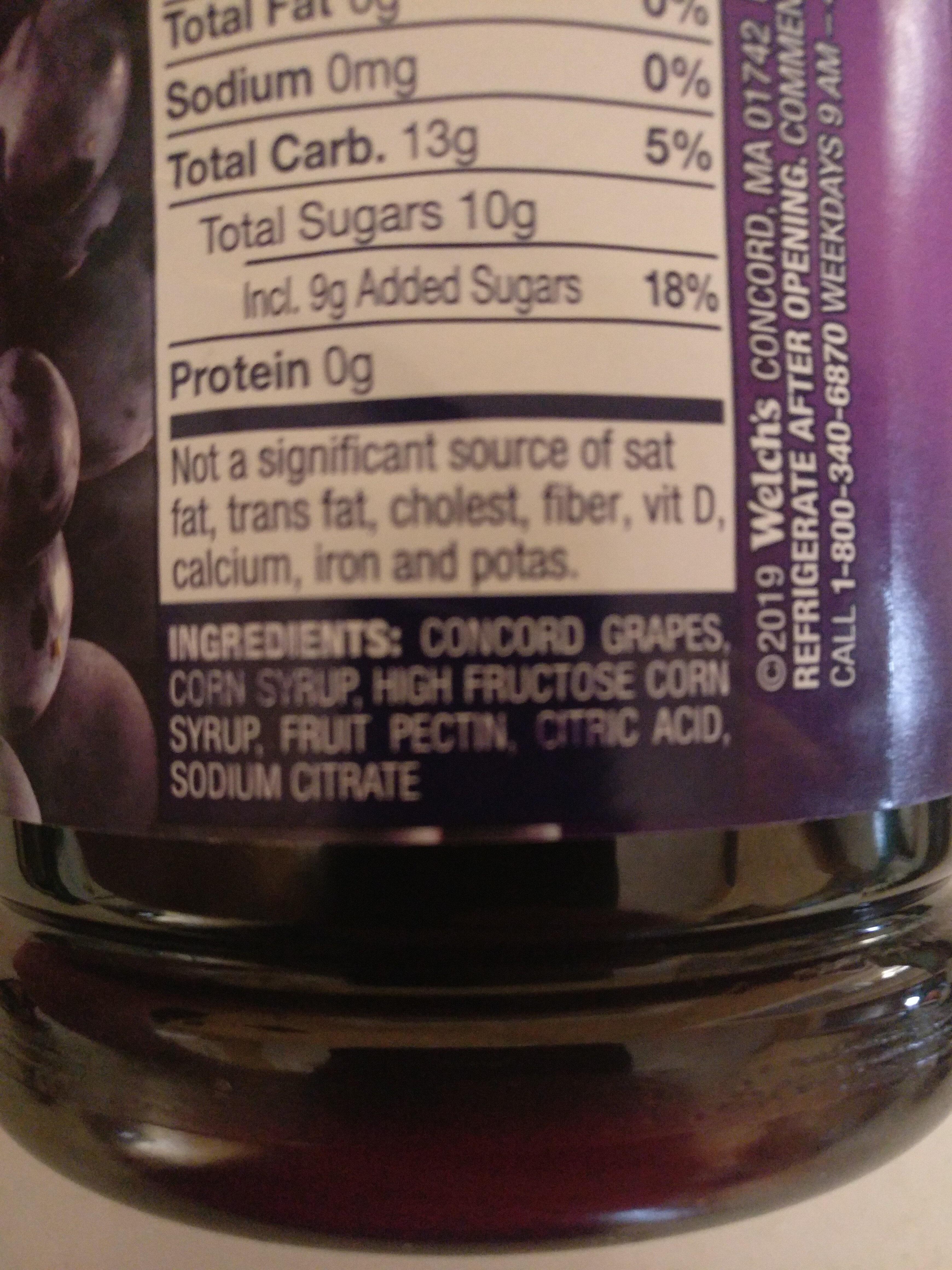 Concord Grape Jelly - Ingrédients - en