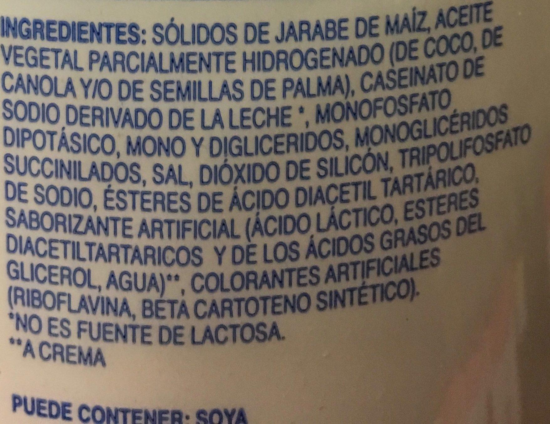 Cremora - Ingrediënten