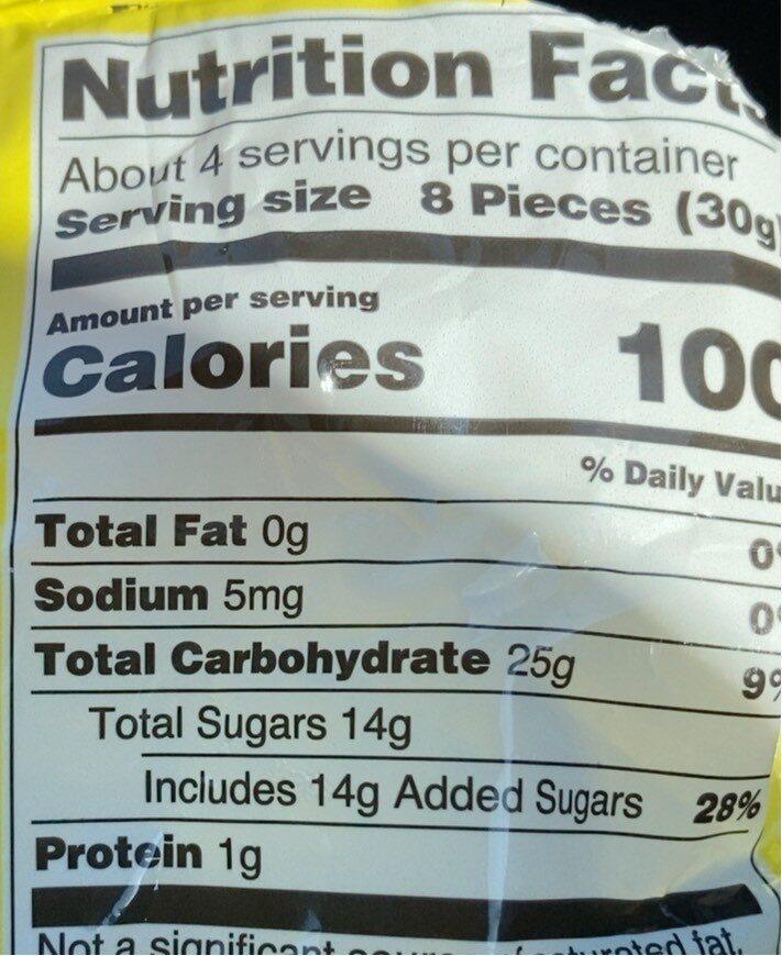 Gingerlemon gummi candy each - Nutrition facts - en