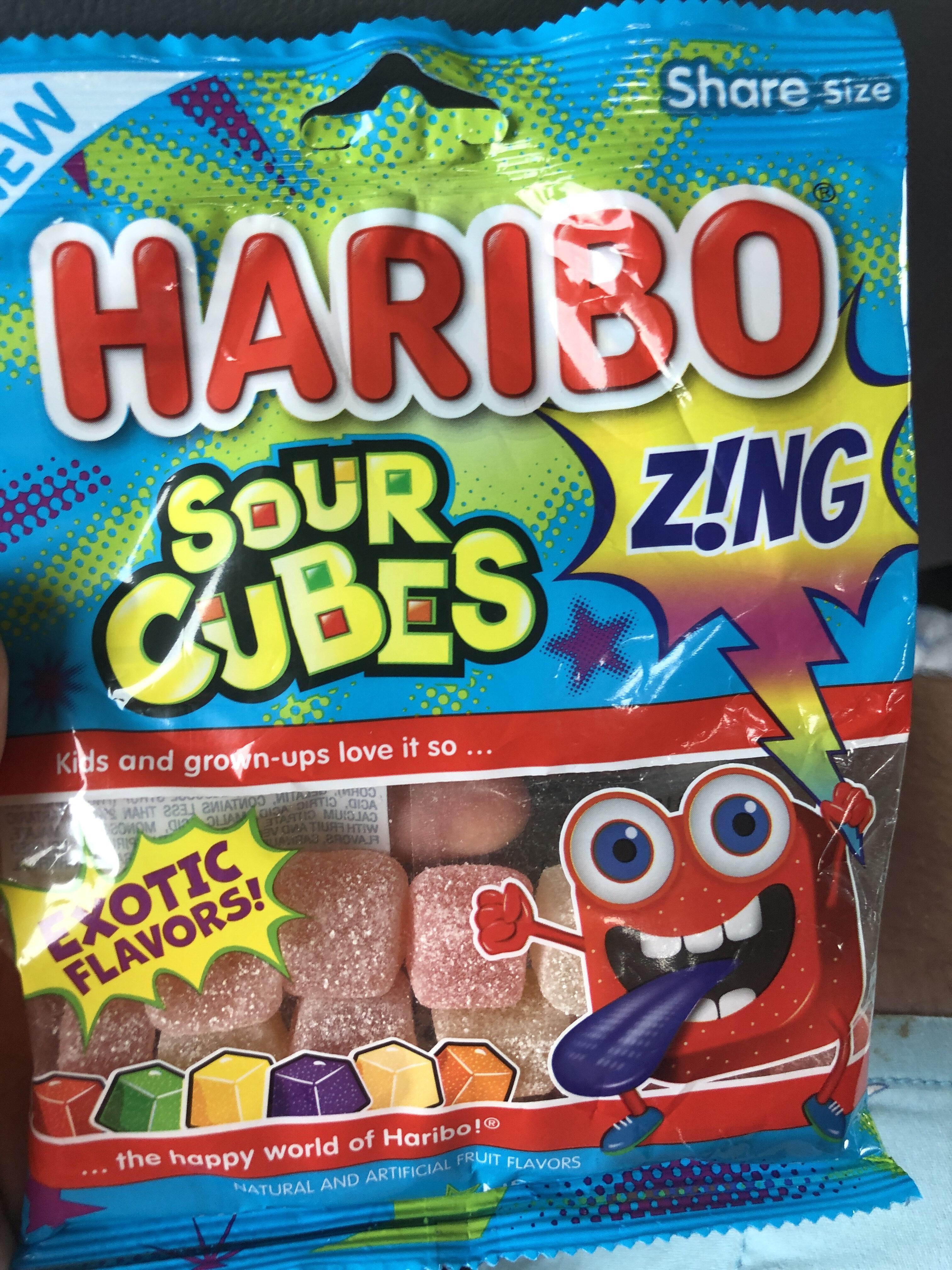 Sour cubes gummi candy, sour - Product - en