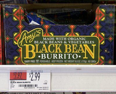 Black bean burrito - Product - en