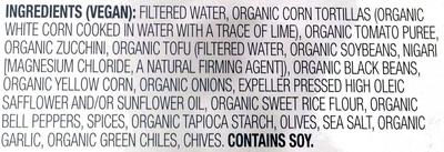 Enchilada Black bean and vegetable - Ingredients