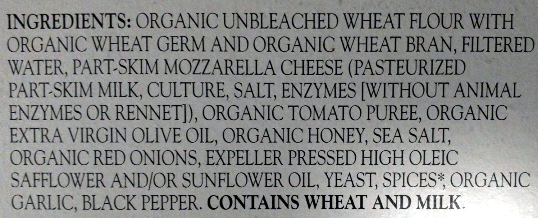 Pizza cheese - Ingredients - en