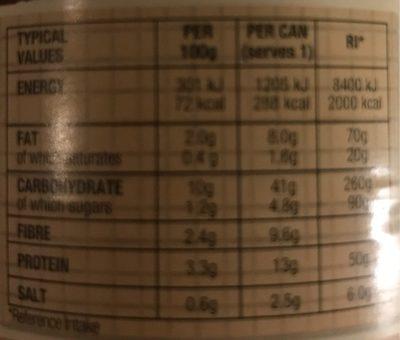 Organic Lentil Soup - Nutrition facts - en