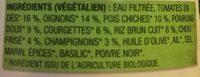 Soupe rustique aux legumes a l'italienne - Ingrediënten
