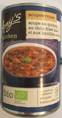 Soupe au quinoa au chou frisé kale et aux lentilles corail - Product