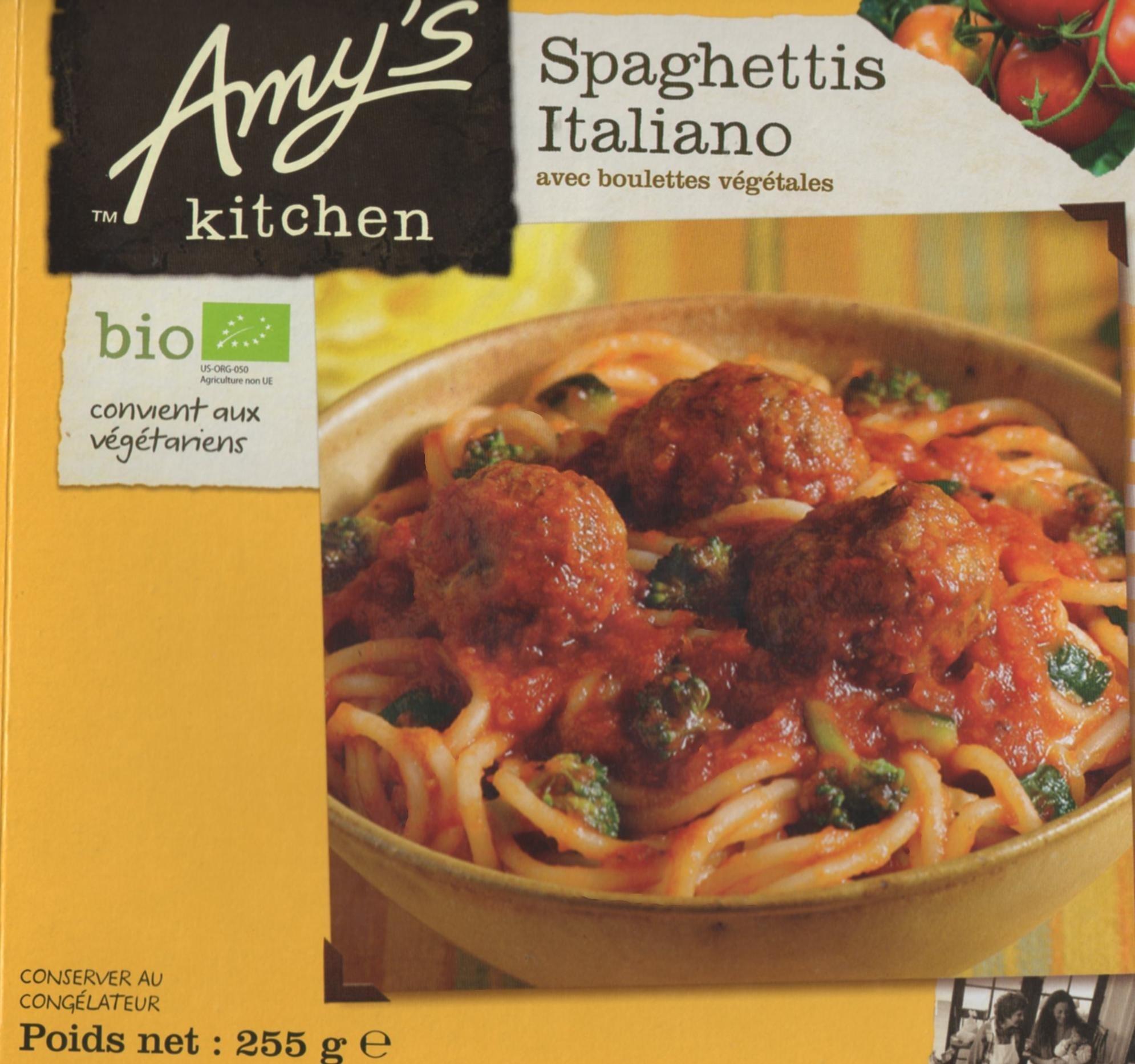 Spaghettis Italiano avec boulettes végétales - Product - fr
