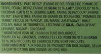 Gratin de Pâtes, Brocolis et Cheddar - Ingrédients - fr