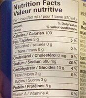 No chicken noodle soup - Informations nutritionnelles - en