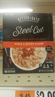 Oat Revolution!, Steel Cut Instant Oatmeal With Flax, Maple & Brown Sugar - Product