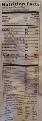 Cinnamon toasters cereal - Nutrition facts - en
