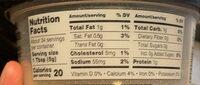 Imported Premium Grated Parmesan - Nutrition facts - en