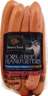 Natural casing original pork & beef franks - Product - en