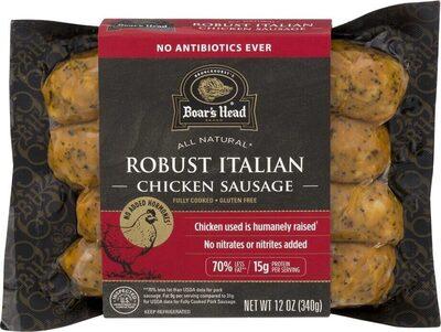 Robust italian chicken sausage - Product - en