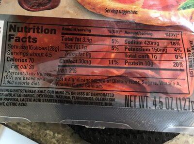 Turkey pepperoni - 1