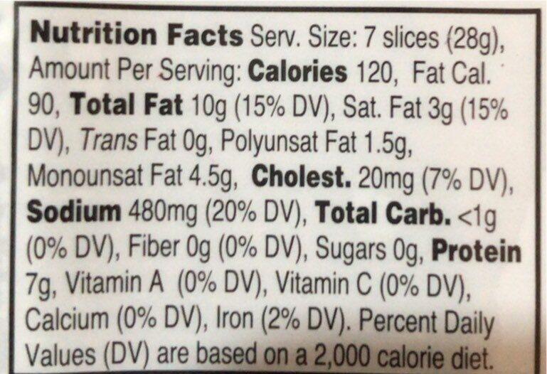 Genoa sliced salame - Nutrition facts - en