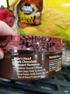 Dark Chocolate Dessert Hummus - Ingredients - en